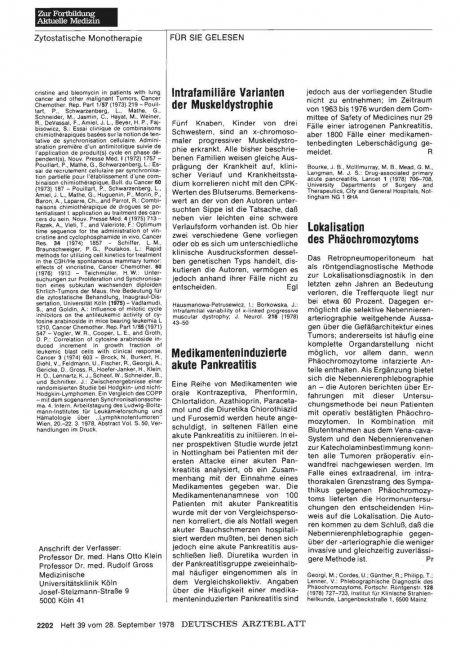 Medikamenteninduzierte akute Pankreatitis