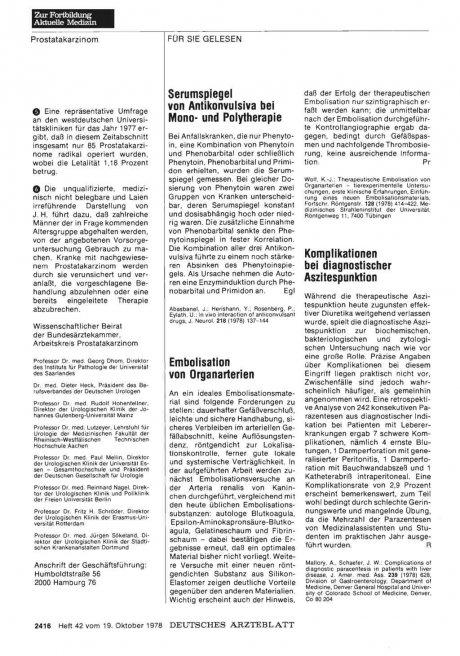 Komplikationen bei diagnostischer Aszitespunktion