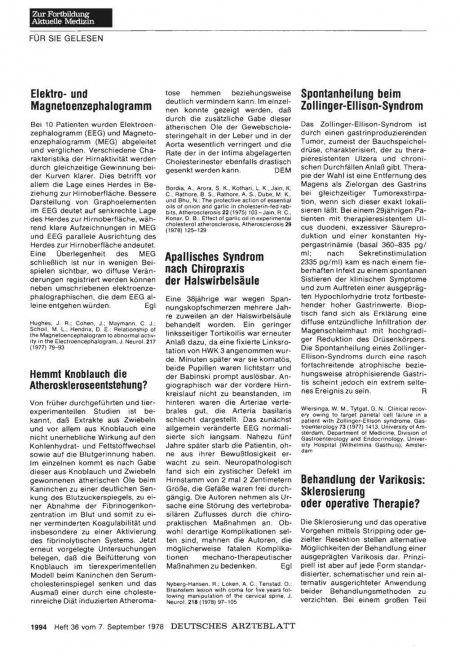 Spontanheilung beim Zollinger-El lison-Syndrom