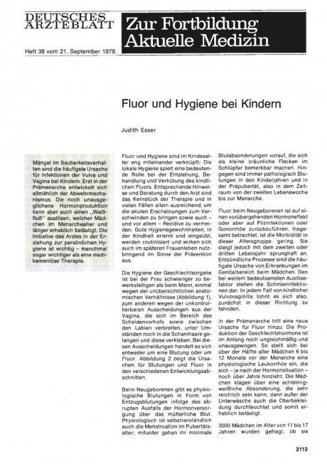 Fluor und Hygiene bei Kindern