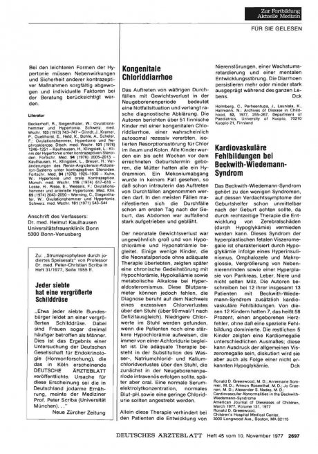 Kardiovaskuläre Fehlbildungen bei Beckwith-Wiedemann- Syndrom