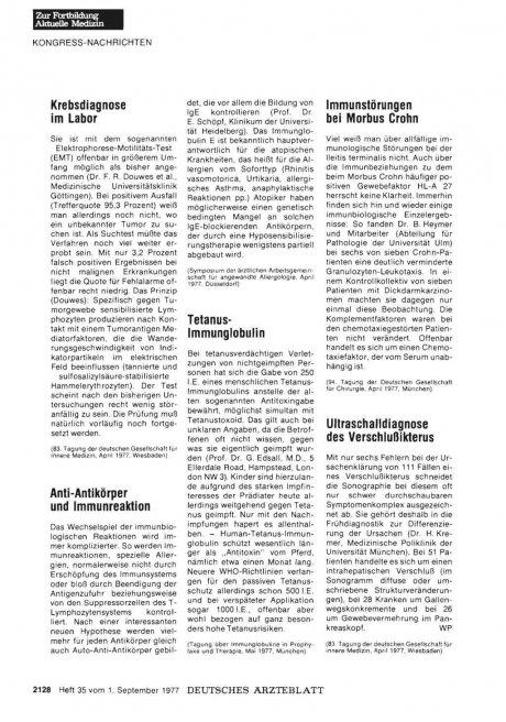 Anti-Antikörper und Immunreaktion