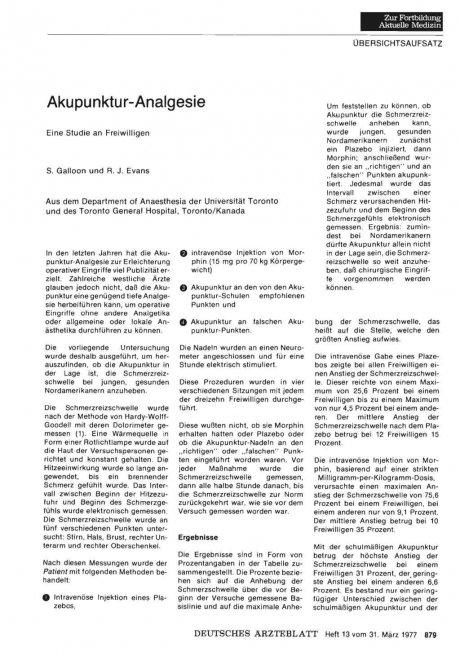Akupunktur-Analgesie