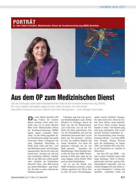 Dr. med. Sabine Schellert, Medizinischer Dienst der Krankenversicherung (MDK) Nordrhein: Aus dem OP zum Medizinischen Dienst