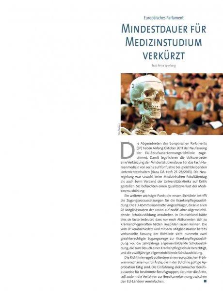 Europäisches Parlament: Mindestdauer für Medizinstudium verkürzt