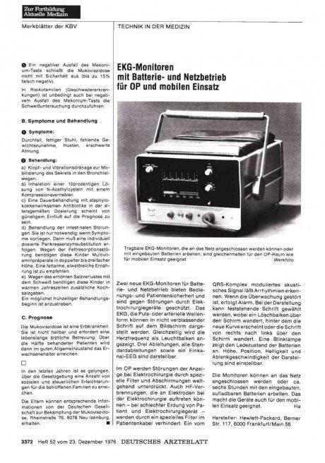 EKG-Monitoren mit Batterie- und Netzbetrieb für OP und mobilen Einsatz