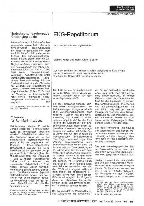 Endoskopische retrograde Cholangiographie