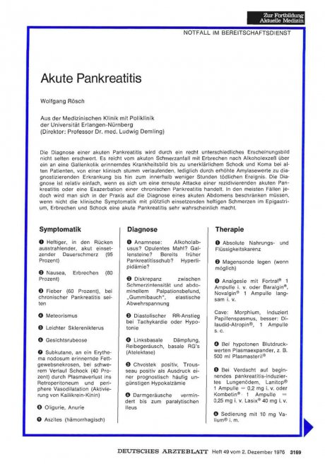 Akute Pankreatitis