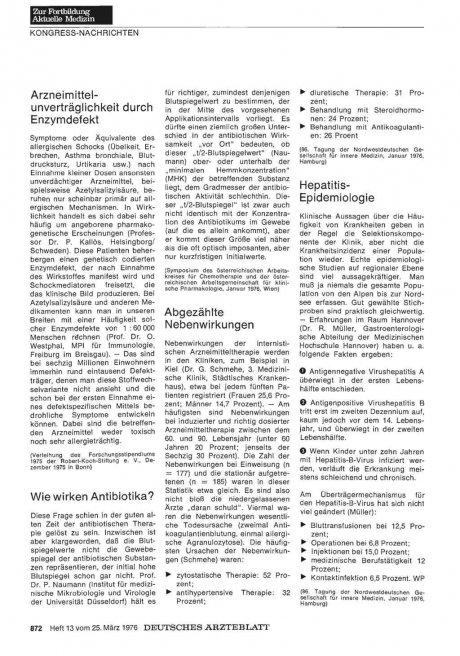 Hepatitis-Epidemiologie