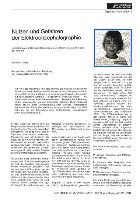 Nutzen und Gefahren der Elektroenzephalographie