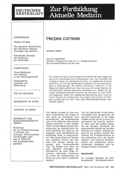 Herpes corneae
