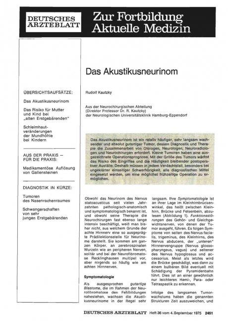Das Akustikusneurinom