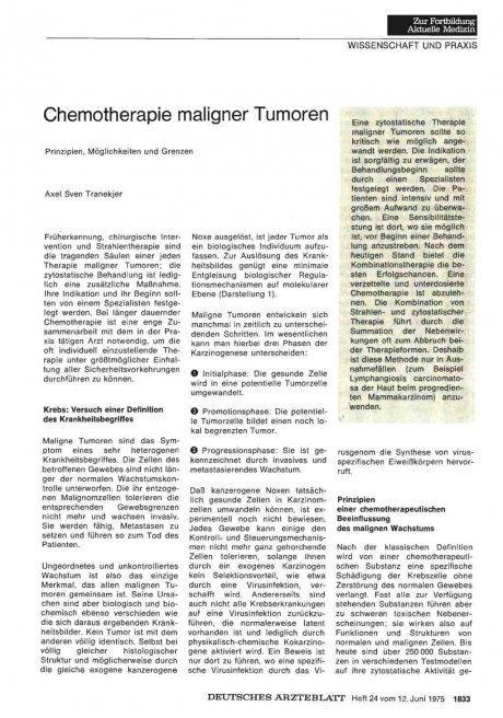 Chemotherapie maligner Tumoren
