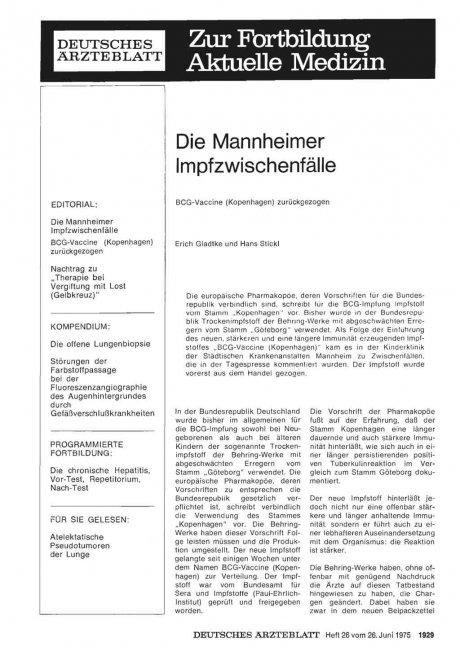 Die Mannheimer Impfzwischenfälle
