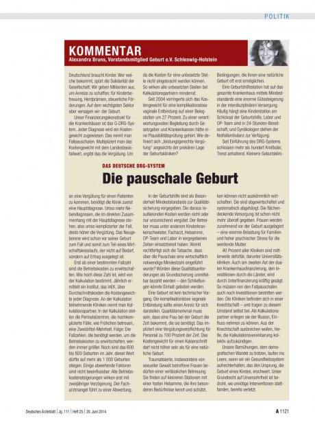 Das deutsche DRG-System: Die pauschale Geburt