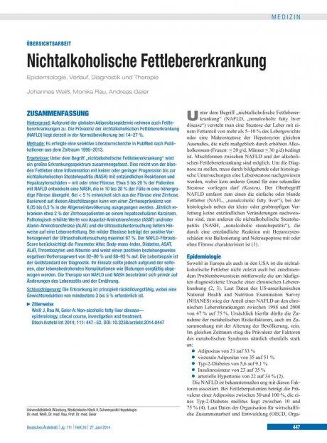 Nichtalkoholische Fettlebererkrankung