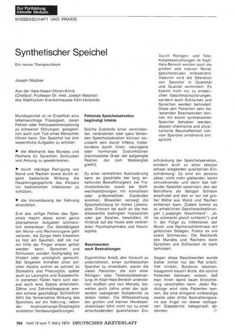 Synthetischer Speichel
