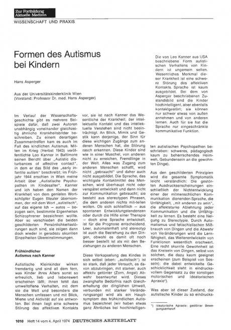 Formen des Autismus bei Kindern