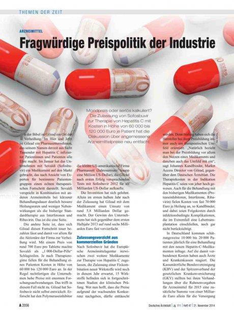 Arzneimittel: Fragwürdige Preispolitik der Industrie