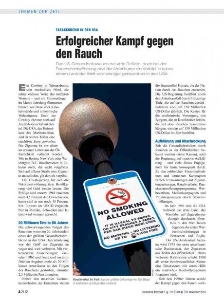 Tabakkonsum in den USA: Erfolgreicher Kampf gegen den Rauch