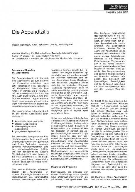 Die Appendizitis