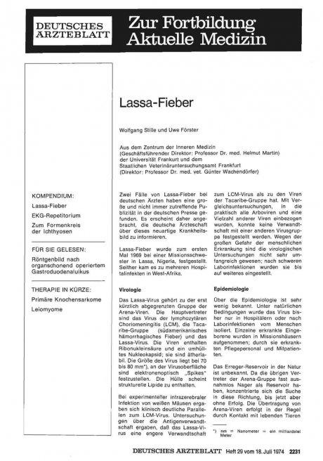 Lassa-Fieber