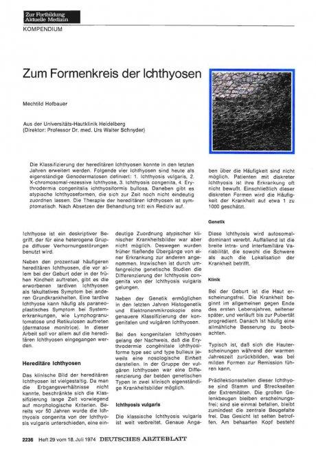 Zum Formenkreis der Ichthyosen