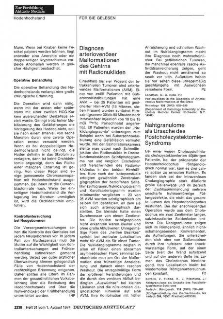 Nahtgranulome als Ursache des Postcholezystektomie- Syndroms