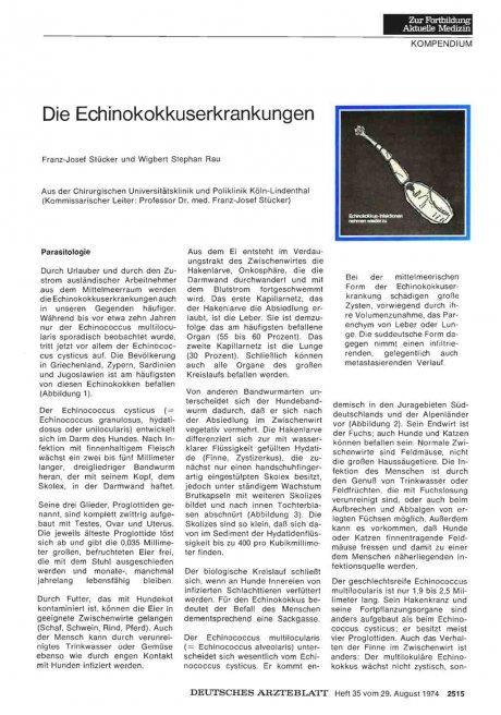 Die Echinokokkuserkrankungen