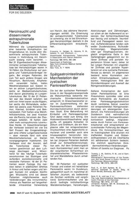 Spätgastrointestinale Manifestation der zystischen Pankreasfibrose