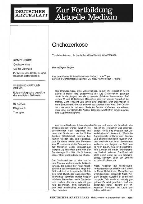 Onchozerkose