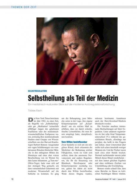 Selbstregulation: Selbstheilung als Teil der Medizin