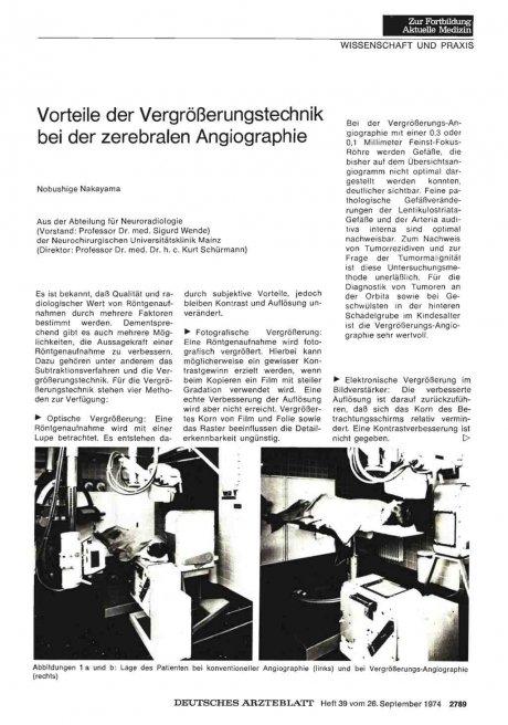 Vorteile der Vergrößerungstechnik bei der zerebralen Angiographie