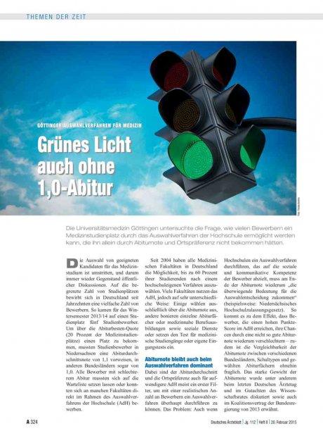 Göttinger Auswahlverfahren für Medizin: Grünes Licht auch ohne 1,0-Abitur