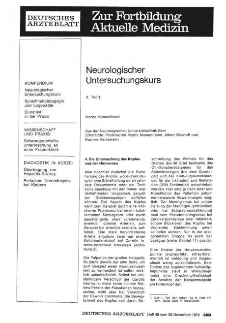 Neurologischer Untersuchungskurs