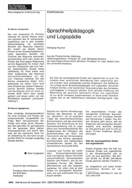 Sprachheilpädagogik und Logopädie