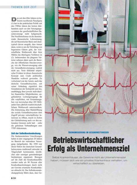 Ökonomisierung im Gesundheitswesen: Betriebswirtschaftlicher Erfolg als Unternehmensziel