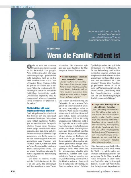 Im Zwiespalt: Wenn die Familie Patient ist