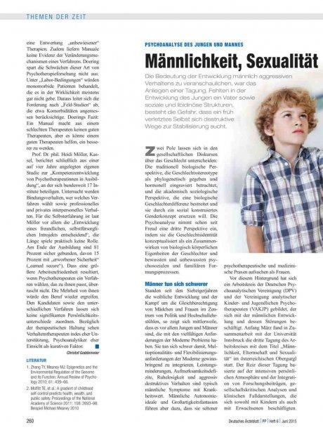 Psychoanalyse des Jungen und Mannes: Männlichkeit, Sexualität und Aggression