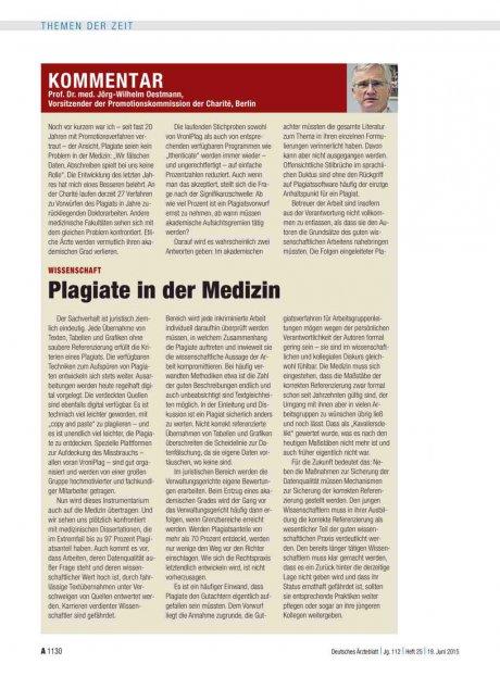 Wissenschaft: Plagiate in der Medizin