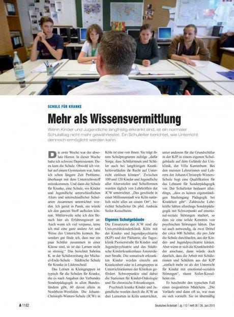 Schule für Kranke: Mehr als Wissensvermittlung