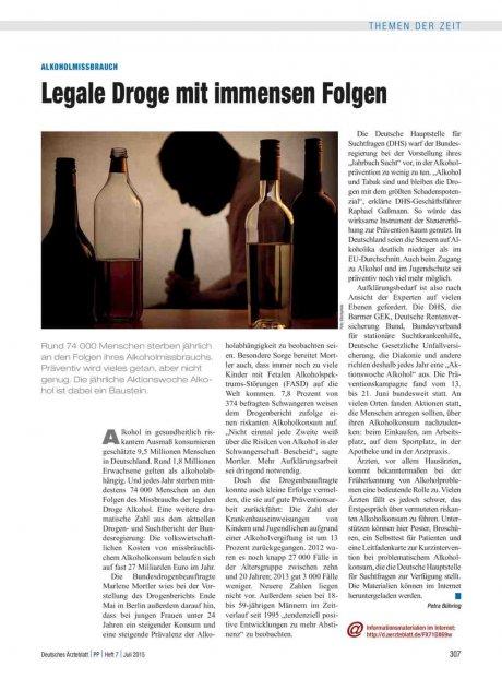 Alkoholmissbrauch: Legale Droge mit immensen Folgen