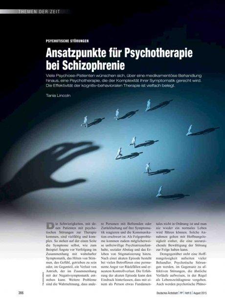 Psychotische Störungen: Ansatzpunkte für Psychotherapie bei Schizophrenie