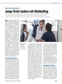Umfrage des Hartmannbundes: Junge Ärzte hadern mit Klinikalltag