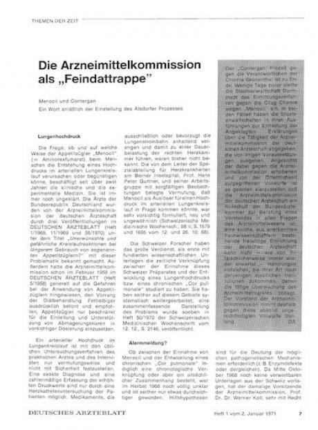 """Die Arzneimittelkommission als """"Feindattrappe"""""""