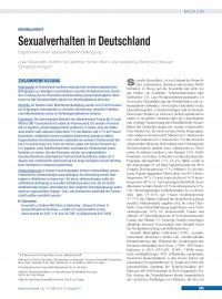 Durschnittliche sexualpartner deutschland