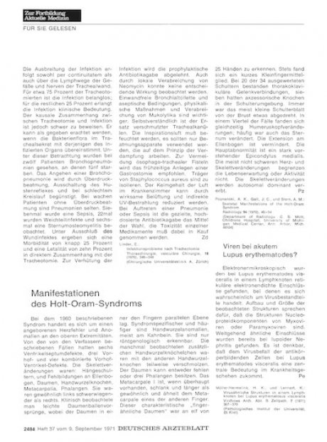 Viren bei akutem Lupus erythematodes?