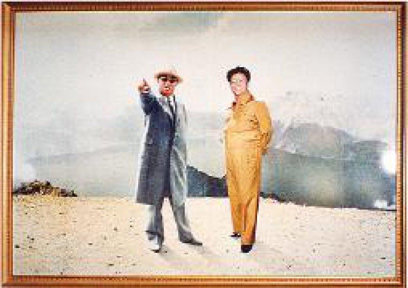 Kim Il-Sung und Kim Jong-Il: Die Führer weisen den Weg.