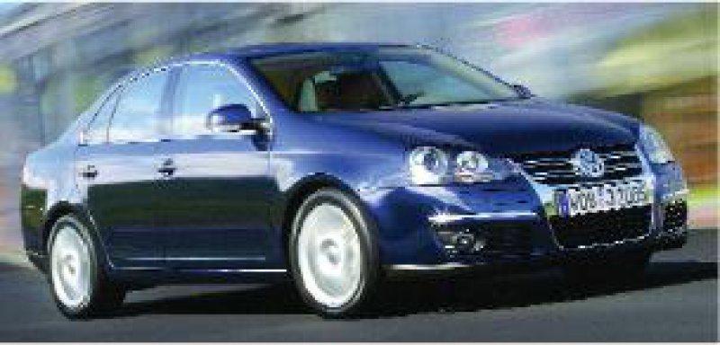 Hat viel vom neuen Passat und sieht schick aus: der VW Jetta. Foto:Volkswagen