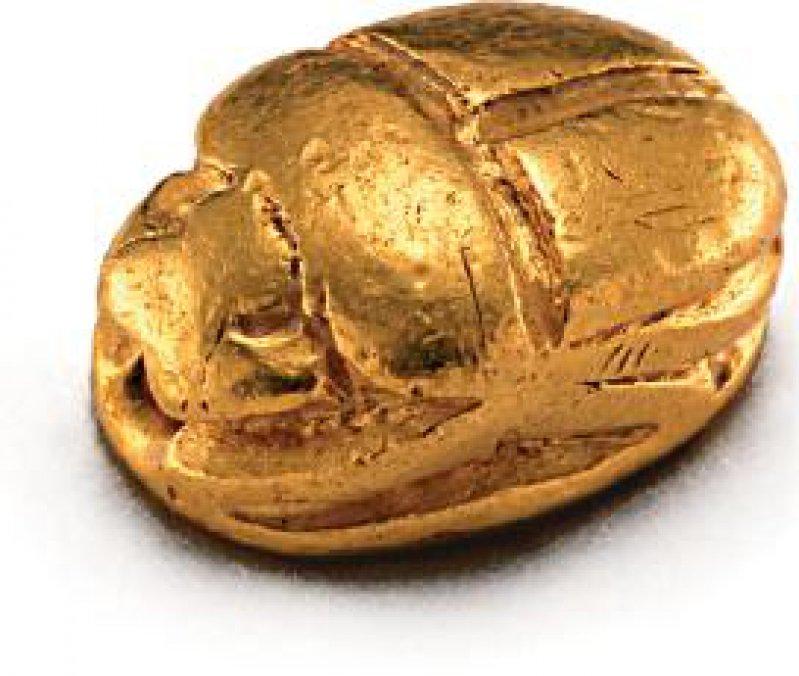 Massivgoldenes persönliches Siegel der ägyptischen Königin Nofretete